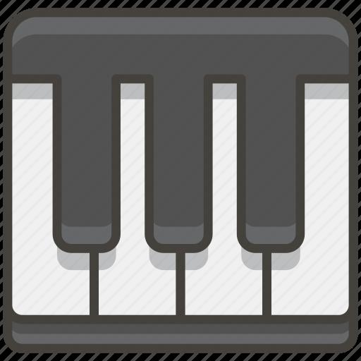 1f3b9, keyboard, musical icon