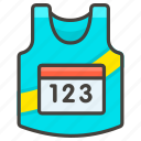 1f3bd, running, shirt icon