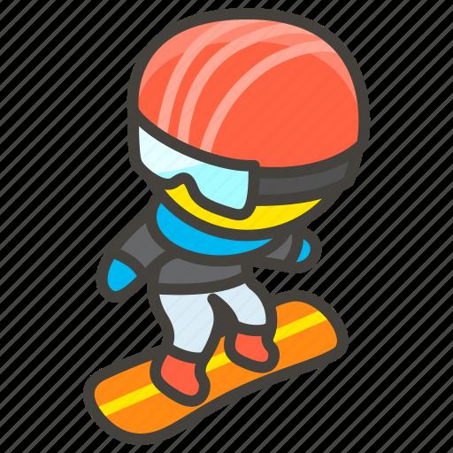 1f3c2, snowboard icon