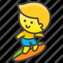 man, surfing