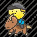 1f3c7, horse, racing icon