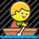 boat, man, rowing