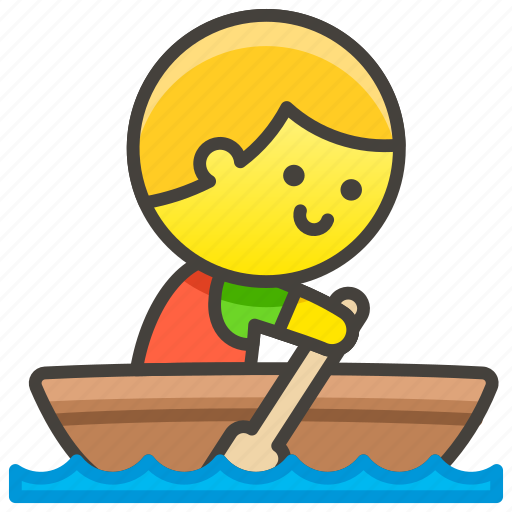 1f6a3, boat, man, rowing icon