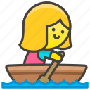 1f6a3, boat, rowing, woman icon
