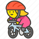 1f6b4, biking, woman icon
