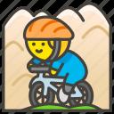 1f6b5, biking, man, mountain icon
