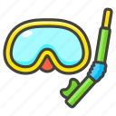 1f93f, diving, mask icon