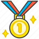 1st, medal, place icon
