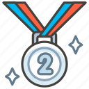 1f948, 2nd, medal, place icon