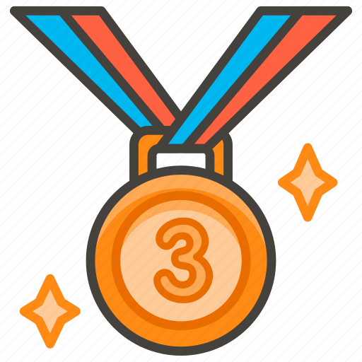 1f949, 3rd, medal, place icon