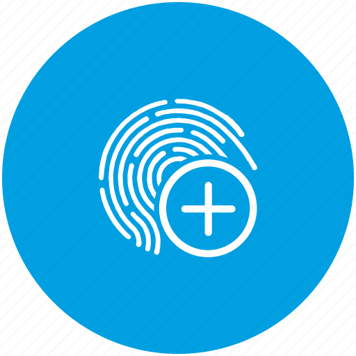access, add, biometry, dactyl, data, finger, ok icon