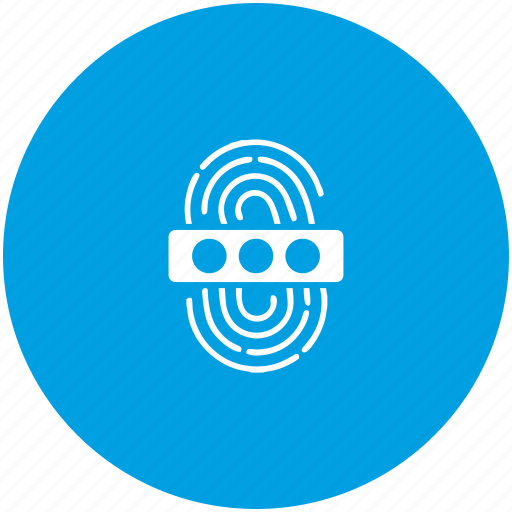 access, biometry, dactyl, data, finger, password icon
