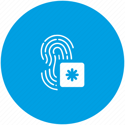 access, biometry, dactyl, finger icon