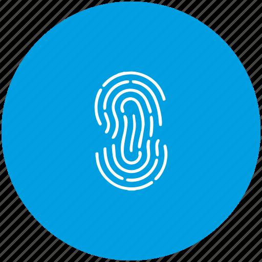 bio, biometry, dactyl, dactylography, finger icon