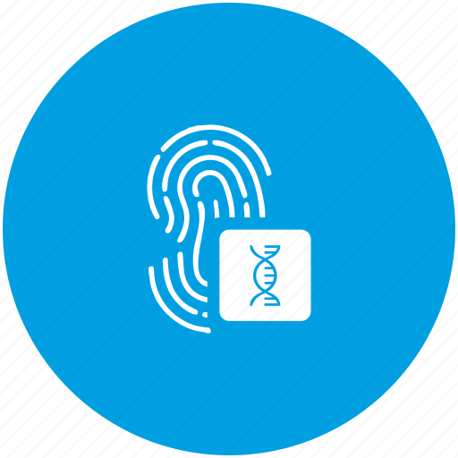biometry, chain, dactyl, dna, finger icon
