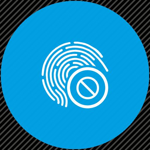 access, biometry, dactyl, finger, lock icon