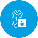 access, biometry, data, finger, lock icon