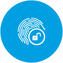 access, biometry, dactyl, data, finger, unlock icon