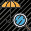 insurance, analysis, umbrella, cover, analyse