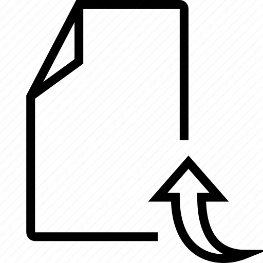 arrow, doc, file, up icon