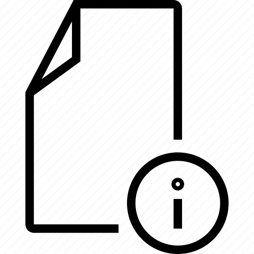 doc, document, file, info icon