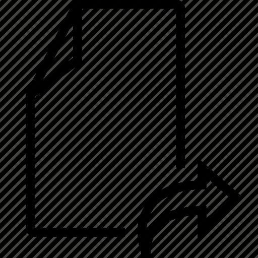 arrow, doc, empty, file, right icon