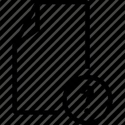 doc, file, unknown icon