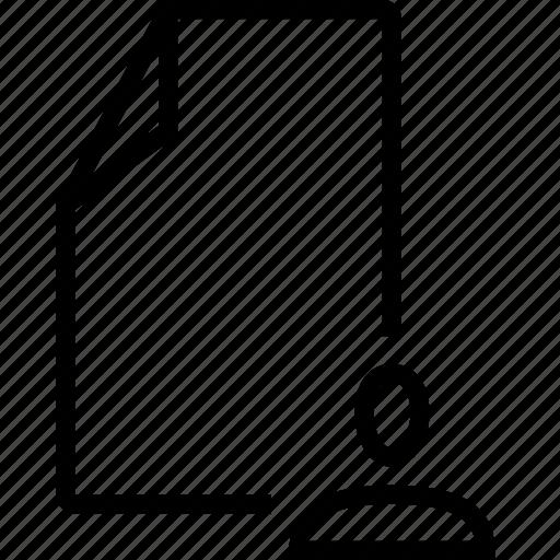 empty, file, template, user icon