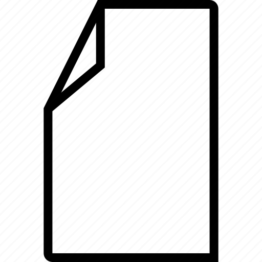 doc, document, empty, file, new icon