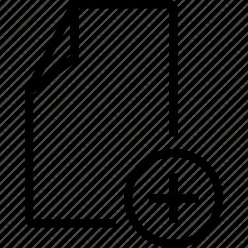 add, create, doc, file, new, template icon