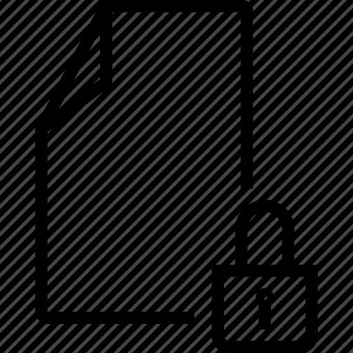 block, file, lock, locked icon