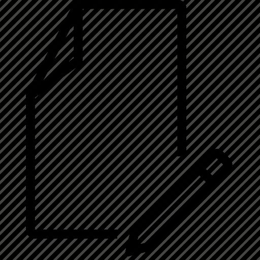 doc, edit, file, pencil, rename icon