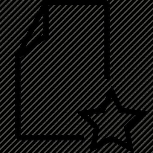 doc, favorite, file icon