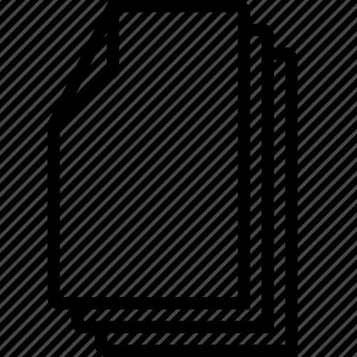 doc, file, files, three icon