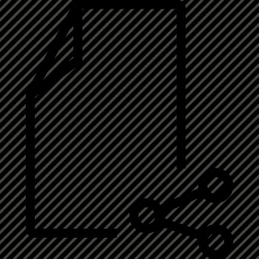 file, share, social icon
