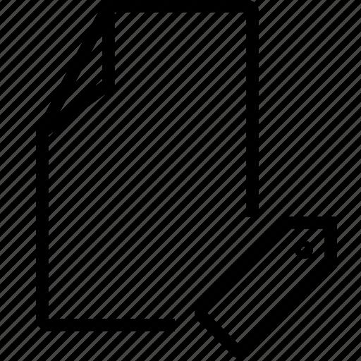 empty, file, tag icon