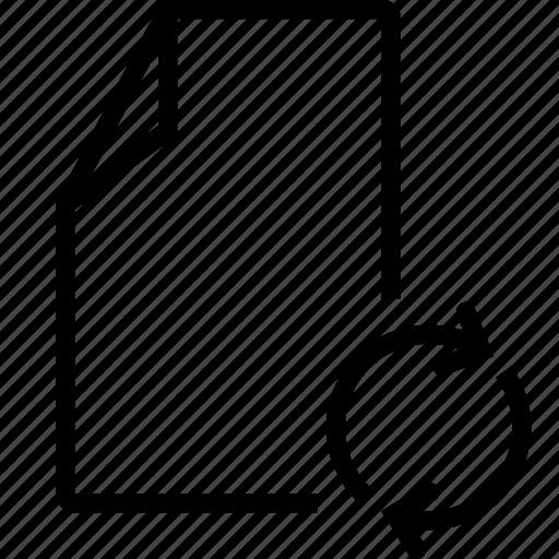 exchange, file, refresh icon