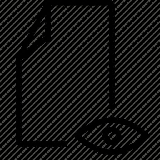 eye, file, show icon