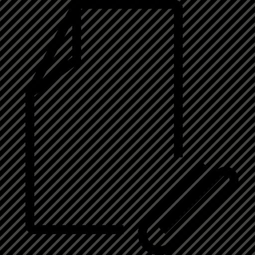 attache, file, mail icon
