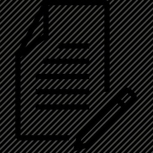 edit, file, rename icon