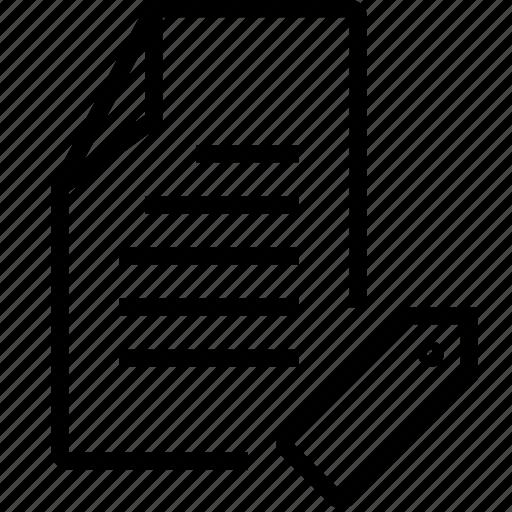file, tag icon