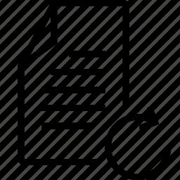 file, refresh icon
