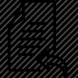arrow, back, file, left icon