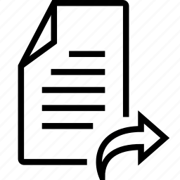 arrow, file, forward, right icon
