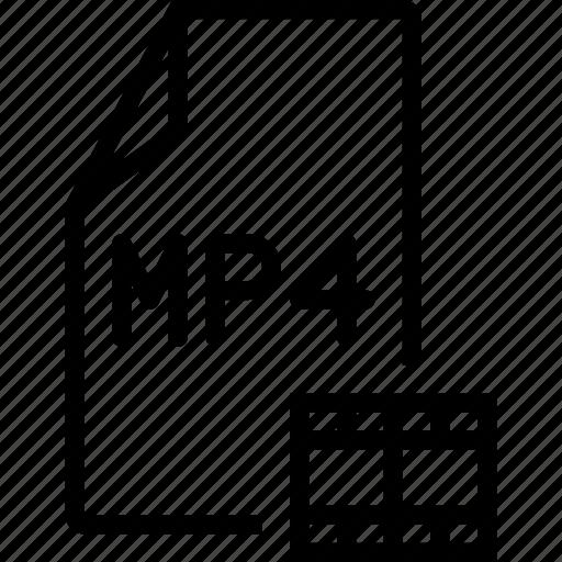 file, movie, mp4, video icon