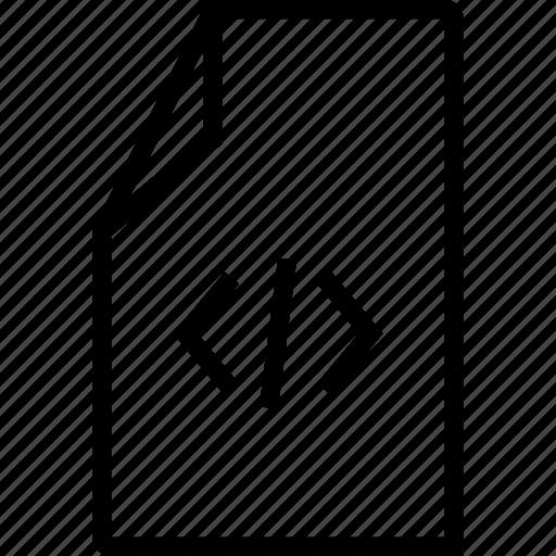 code, file, script icon