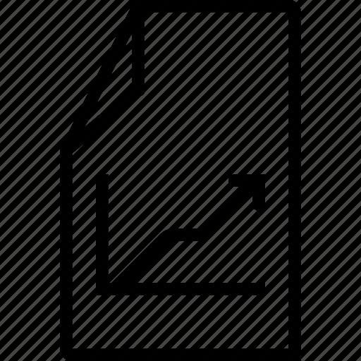arrow, chart, file, statistics icon