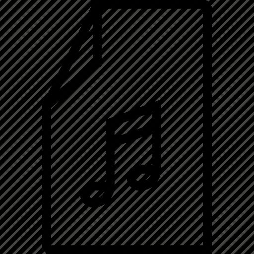 audio, file, media, music, sound icon