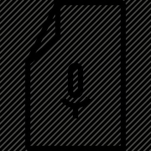 file, record, recording, voice icon