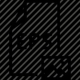 eps, file, image icon